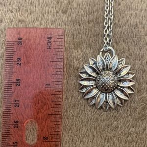Sunflower cut out necklace